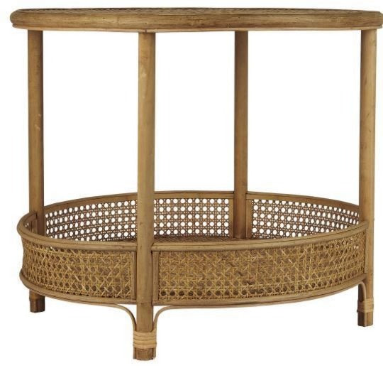 Table round w/1 shelf