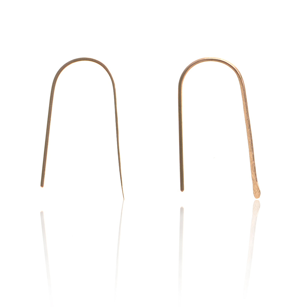 925 silver Gold plated Staple Earrings