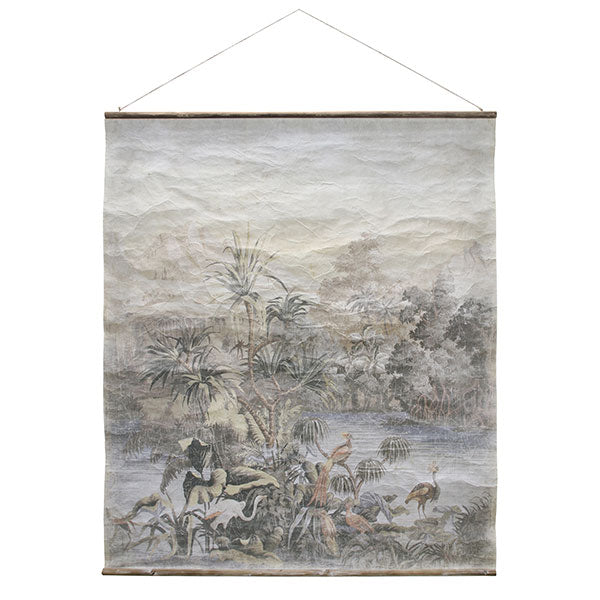 Paper sheet wall hanging vintage wall chart jungle