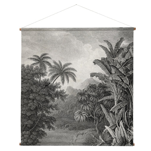wall hanging vintage wall chart  XXL jungle