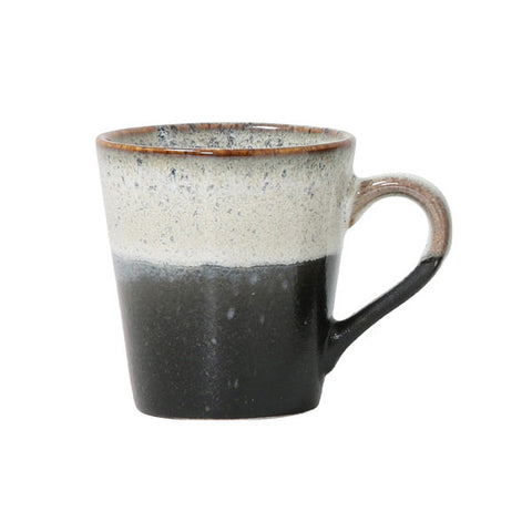 ceramic 70's espresso mug: rock - set of 4