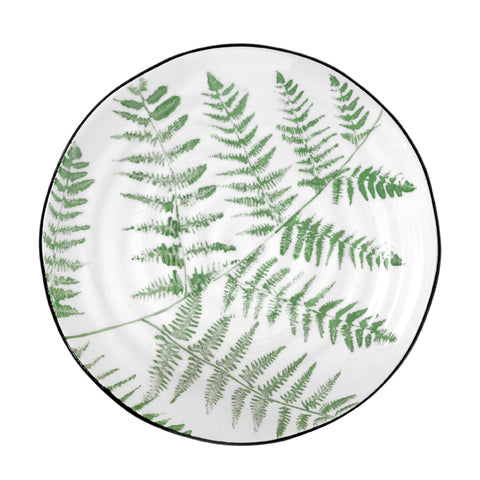 jungle' porcelain serving plate ferns