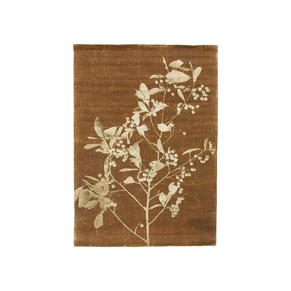 linen wall chart blueberry twig