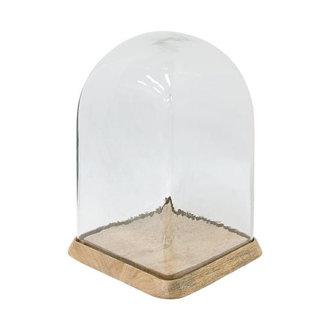 Square glass dome made of wood and recycled glass