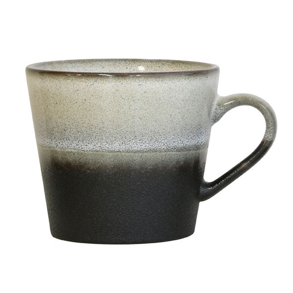 ceramic 70's cappuccino mug: set of 4: rock