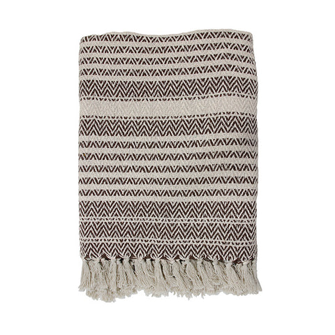 zigzag throw natural/brown