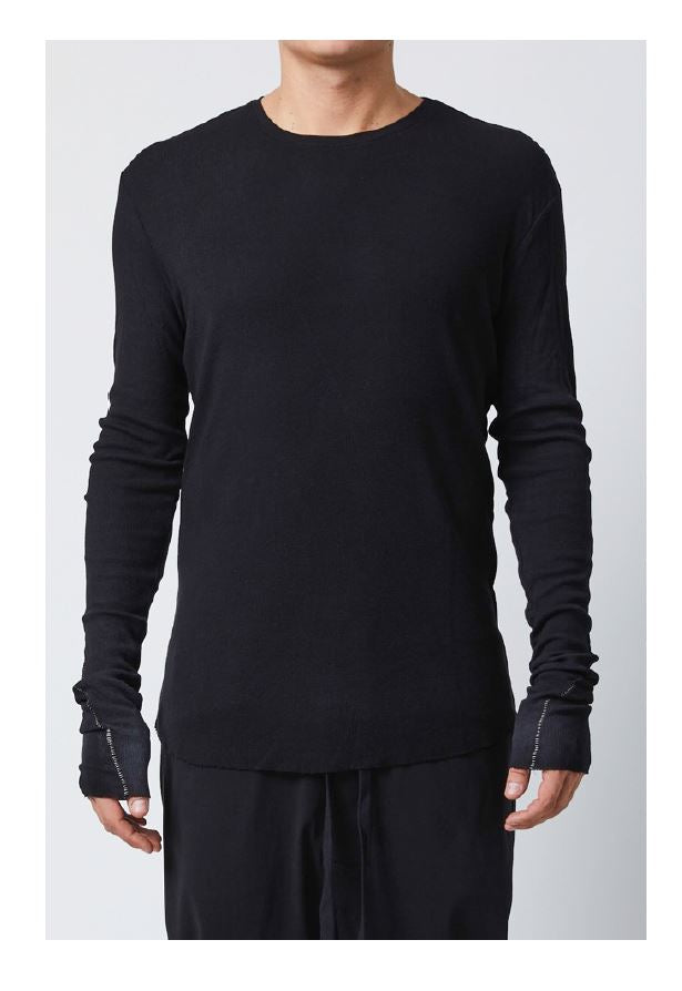 thom/krom SS19 T S 401 Mens Sweat Shirt- Black