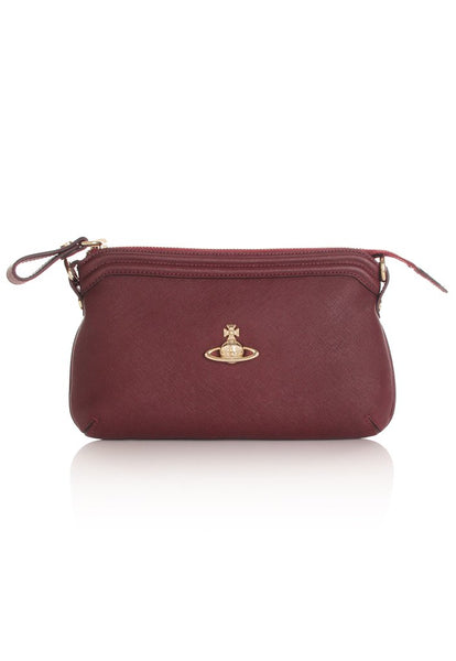 VIVIENNE WESTWOOD AW18 VICTORIA SMALL CROSSBODY - BURGUNDY