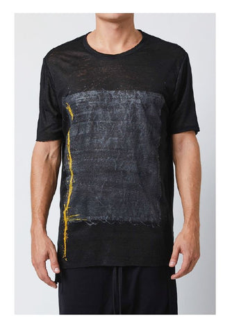 thom/krom SS19 T S 436 Mens T Shirt- Black