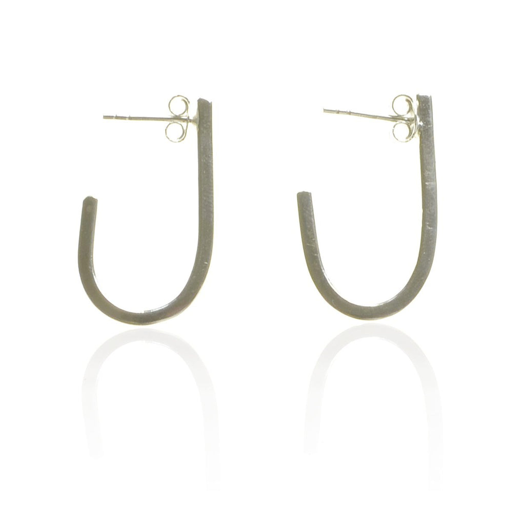 925 Silver Curves Earrings