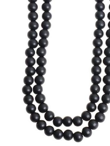 Large black beaded necklace