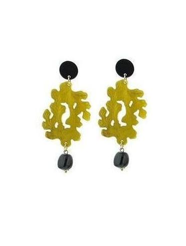 Autumn earrings - Mustard