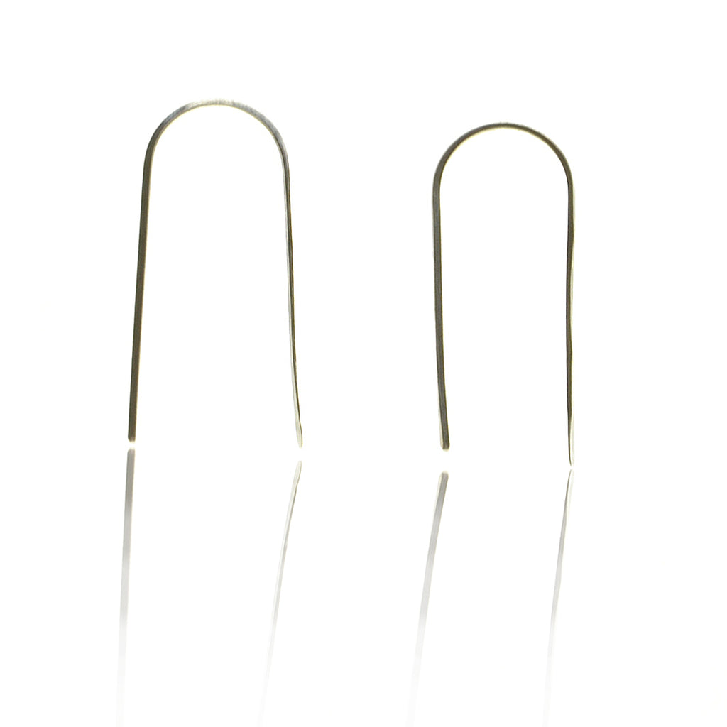 925 Silver Staple Earrings