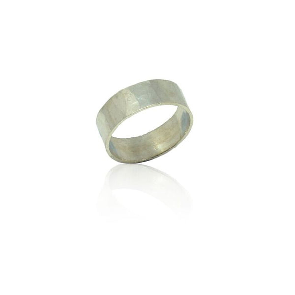 WDTS 925 SILVER Polished Hammered Band