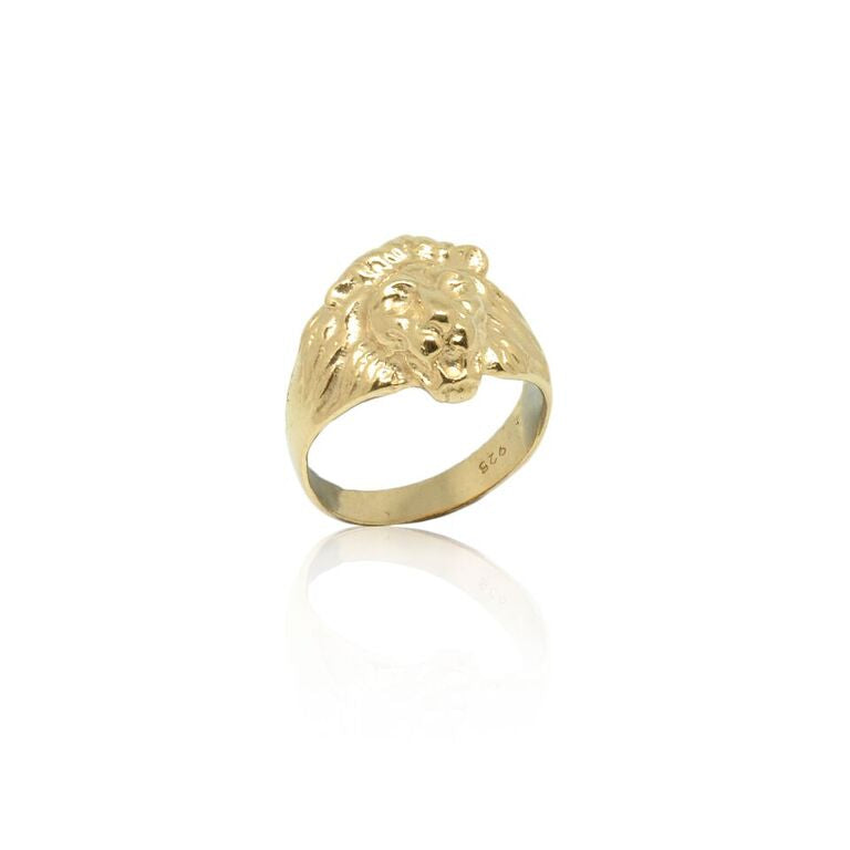 CollardManson 925 Silver Lion Ring- rose gold