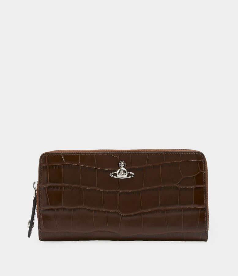 Vivienne Westwood AW18 Lisa Zip Round Wallet - Brown