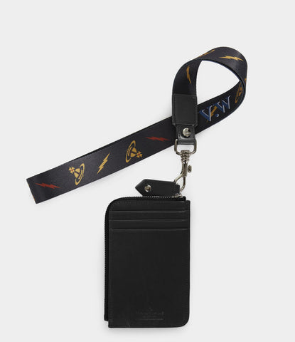 VIVIENNE WESTWOOD LANYARD LANY CREDIT CARD HOLDER IN BLACK
