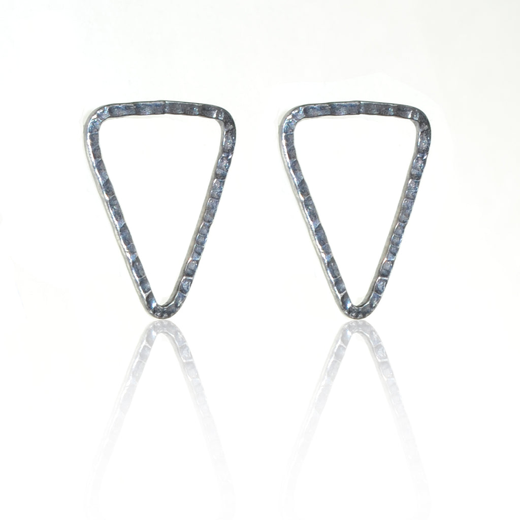 925 Silver Triangle Earrings