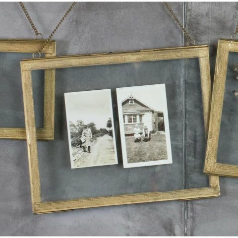 Azizi Brass Frame Antique Brass 5 x 7 landscape