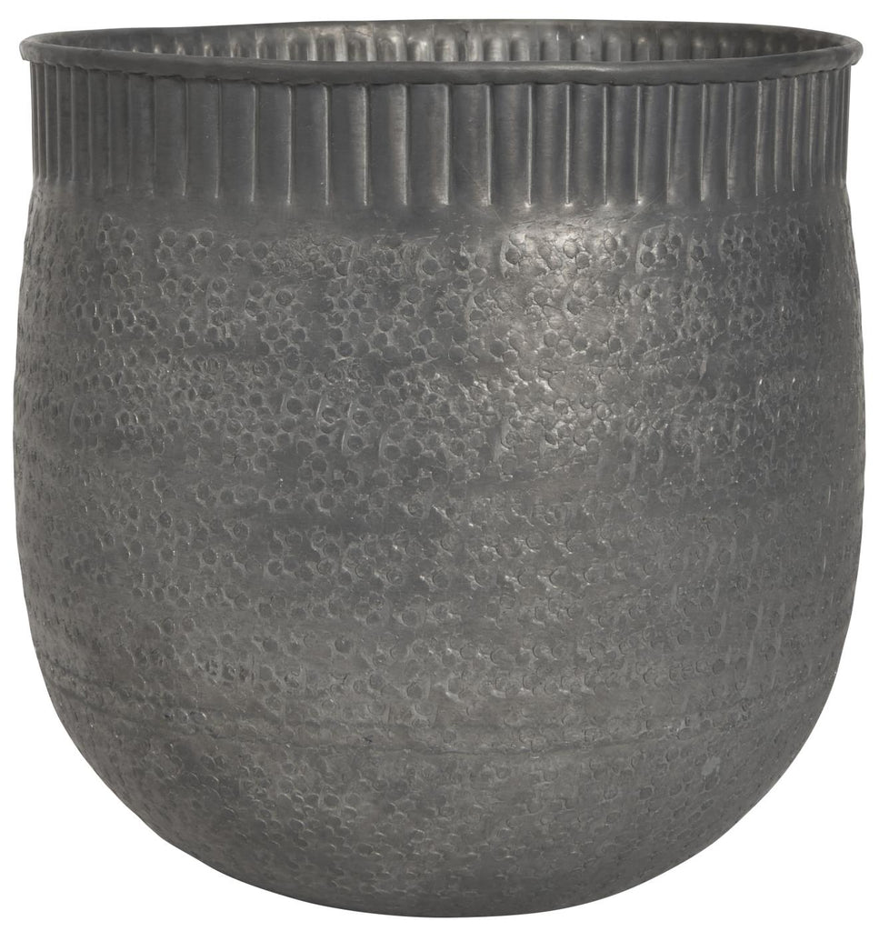 Flower pot Shantiraj hammered aluminium