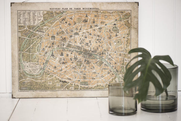 Wall hanging city map - Paris