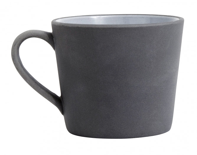 Stoneware mug- grey w handle