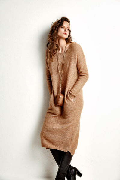 AW18 Humanoid Laurel Dress Chestnut