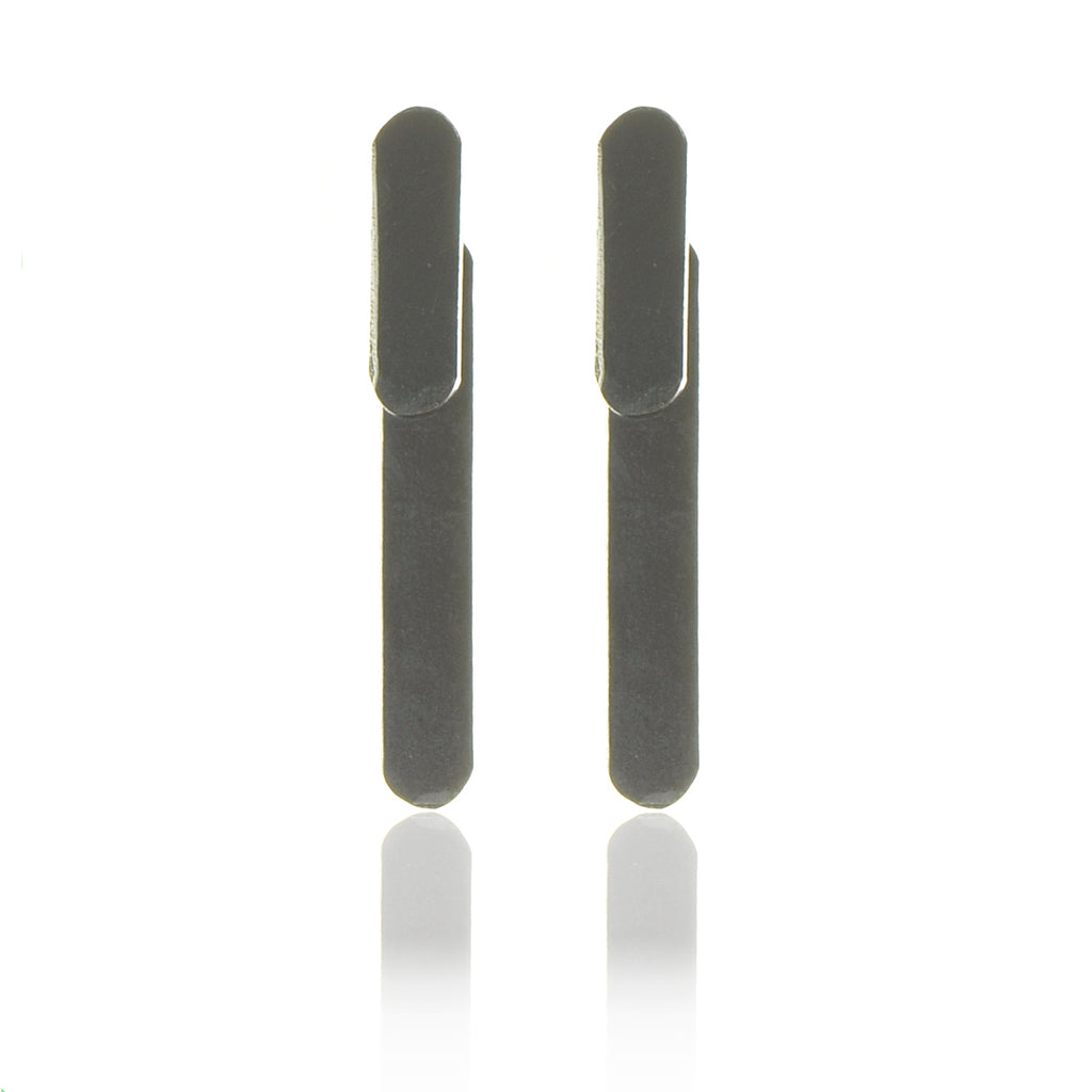 925 Silver Oxidised Layers Earrings