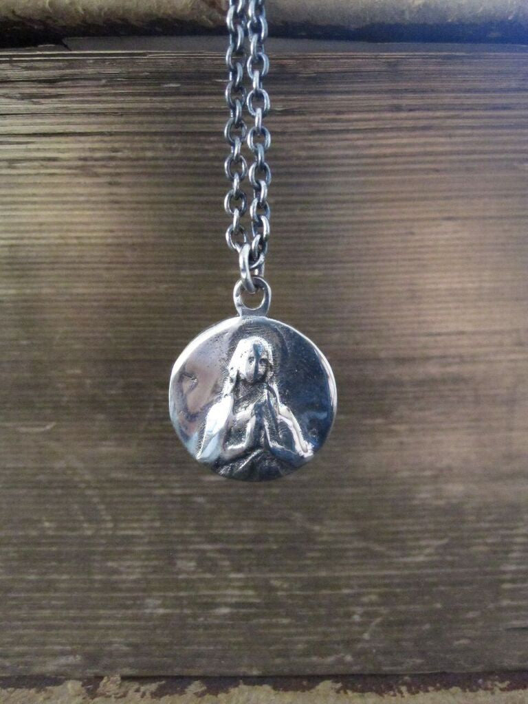 CollardManson 925 Silver Mary Necklace