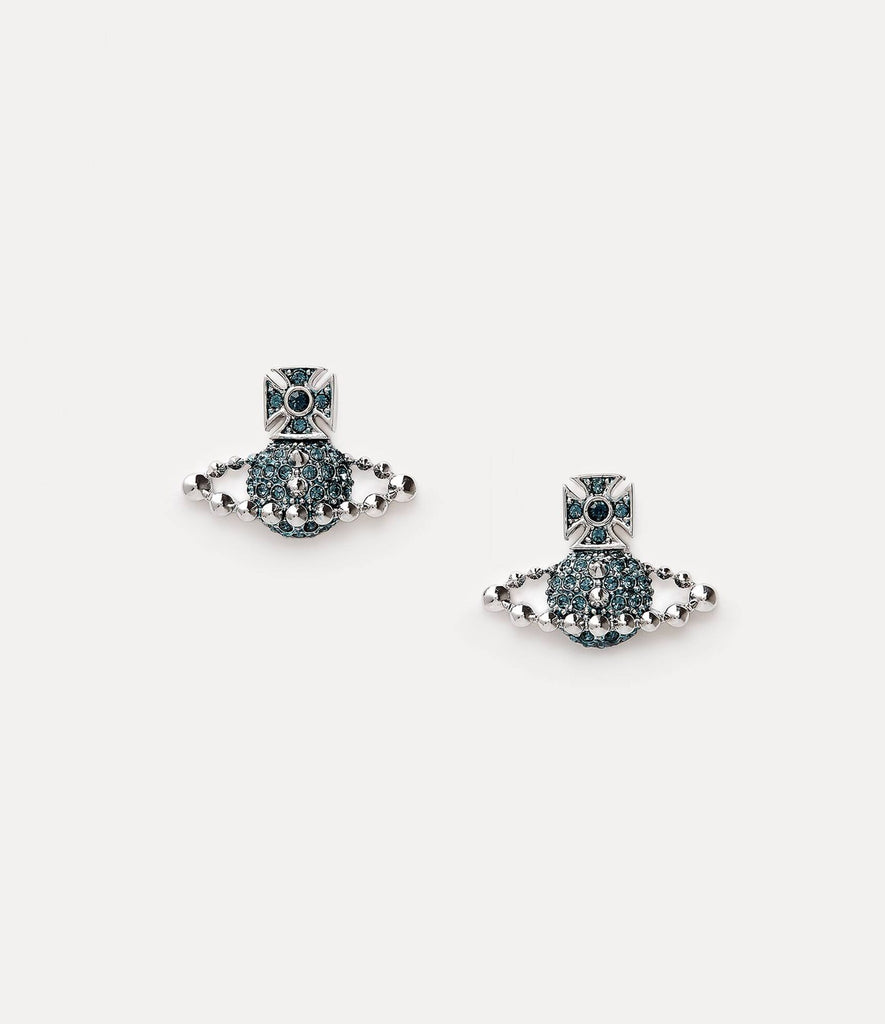 Vivienne Westwood Lena Bas Relief Earrings - rhodium montana