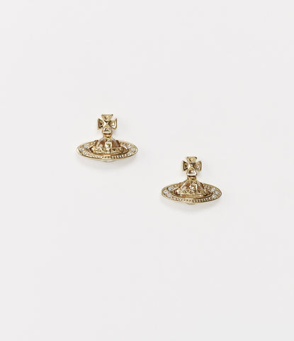 Vivienne Westwood Pina Bas Earrings - gold crystal