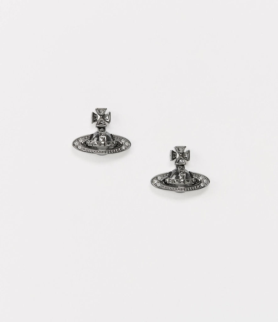 Vivienne Westwood Pina Bas Earrings - Ruthenium Crystal