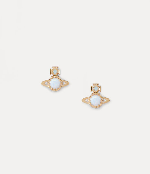 Vivienne Westwood Latifah Earrings- Gold/ White