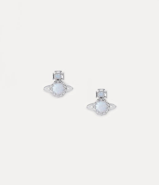 Vivienne Westwood Latifah Earrings- Rhodium/ White