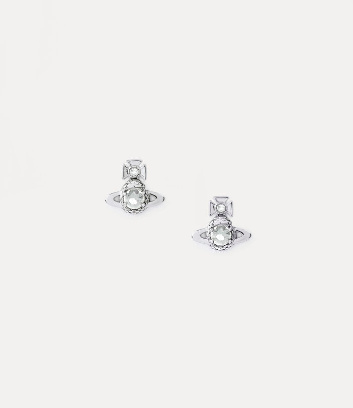 Vivienne Westwood Ouroboros Small Earrings- Rhodium