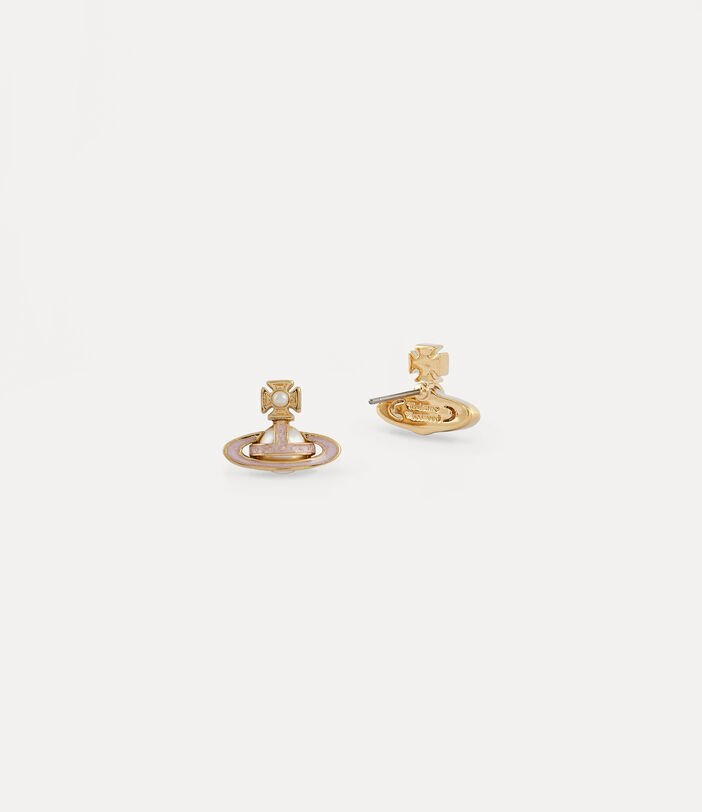 Vivienne Westwood Simonetta Bas Relief Earrings - Gold Tone