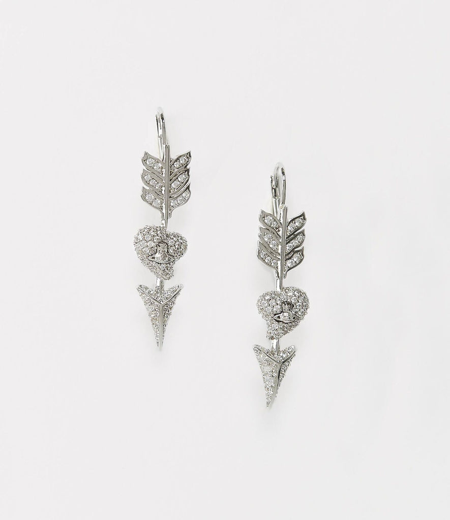 Vivienne Westwood LUMINITA DROP EARRINGS SILVER TONE