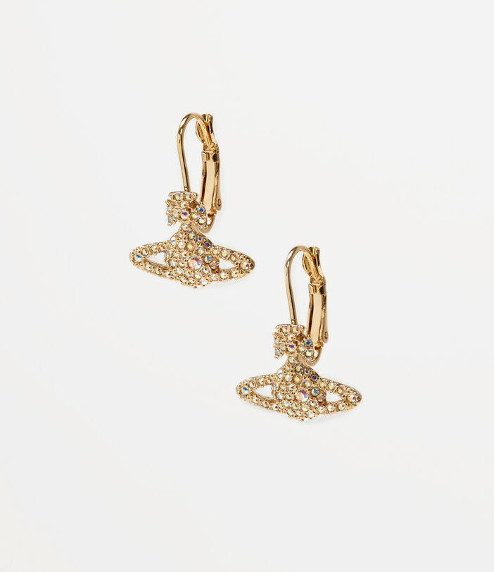 Vivienne Westwood Grace Bas Relief Drop Earrings- Gold Aurore Boreale