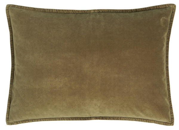 Cushion - velvet autumn green