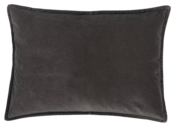 Velvet anthracite cushion