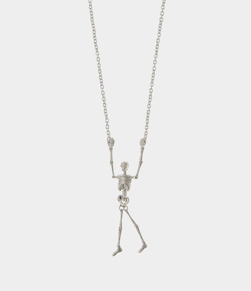 Vivienne Westwood Skeleton Long Necklace- Palladium