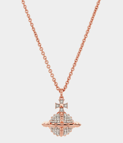 Vivienne Westwood Mayfair Large Orb Pendant - Pink Gold/ Rhodium Crystal