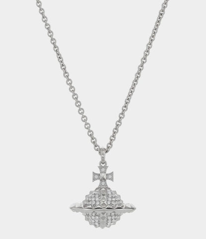 Vivienne Westwood Mayfair Large Orb Pendant - Rhodium/ Crystal