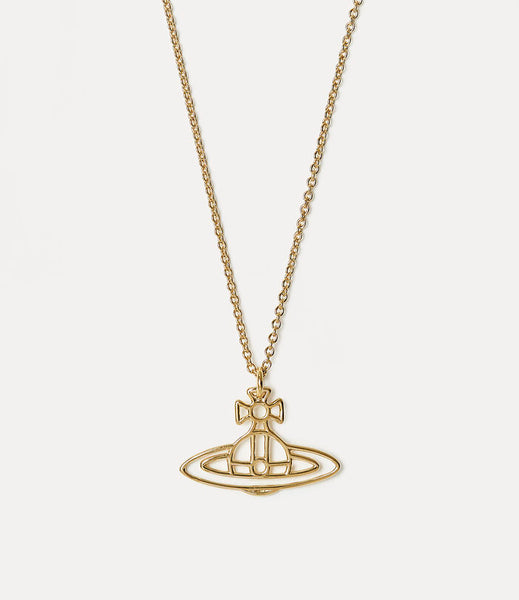 Vivienne Westwood Thin Lines Flat Orb Pendant - Gold