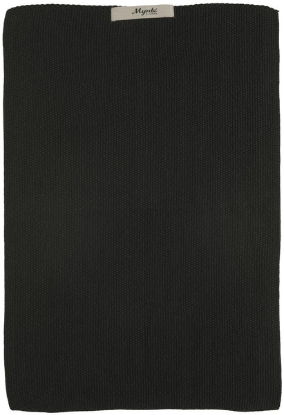 Towel Mynte Pure Black knitted
