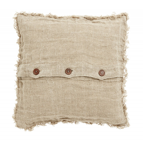 Cushion - Natural Linen with Fringe