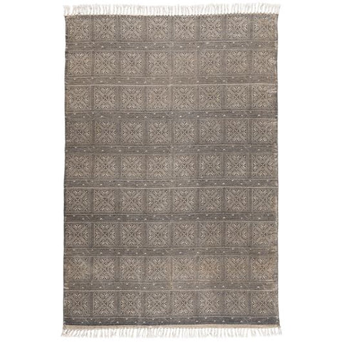 Rug Beige with Black Printing
