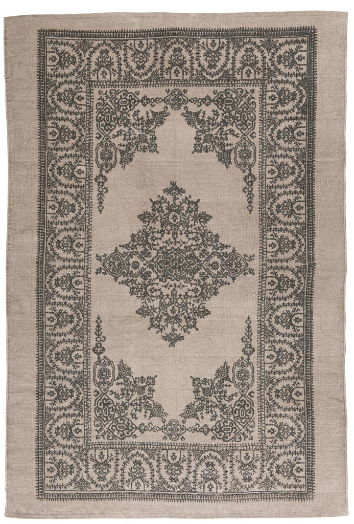 Rug - Malva with grey printing