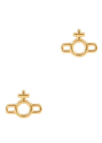 Vivienne Westwood Magnus Orb Earrings - Gold