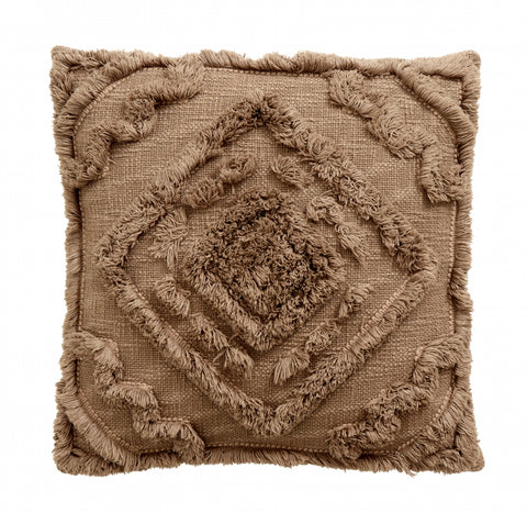 SHAGGY cushion cover, greyish brown